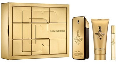 Paco Rabanne 1 Million 100ml EDT + 100ml Shower Gel + 10ml EDT New Design
