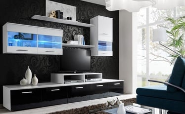 Cama Meble Wall Unit Logo II Without Lights White/Black