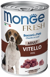 Monge Fresh Chunks Adult With Veal 400g