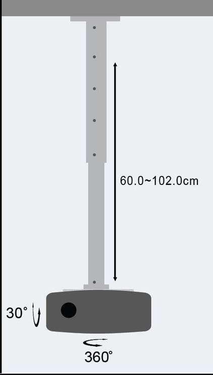 Techly Projector Ceiling Stand Extension 301566