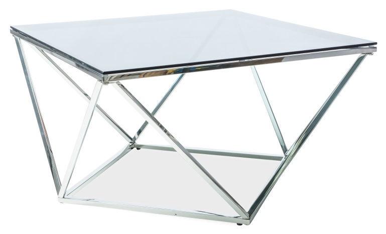 Kafijas galdiņš Signal Meble Modern Silver A Silver, 800x800x450 mm
