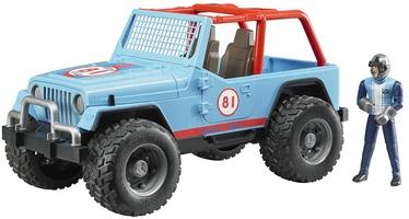 Bruder Jeep Cross Country Racing Racer Blue 02541