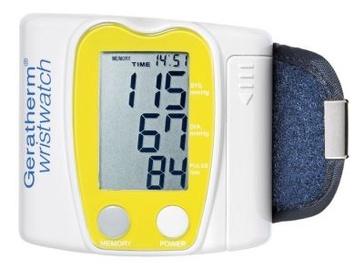 Прибор для измерения давления Geratherm Wristwatch, Желтый