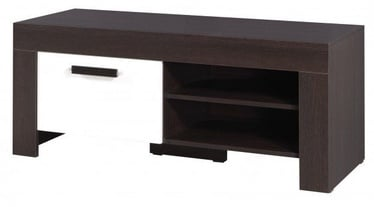 TV galds Jurek Meble Cezar Reg15 Dark Brown/White, 1200x520x510 mm