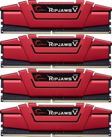 G.SKILL RipJawsV 16GB 2800MHz CL15 DDR4 KIT OF 4 F4-2800C15Q-16GVRB