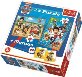 Dėlionė Trefl Memo & Puzzles Disney Paw Patrol 90790, 30/48 dalių