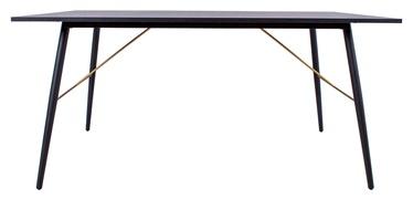 Pusdienu galds Home4you Luxembourg 45046, melna, 1600x900x750mm