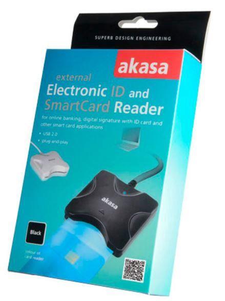 Akasa Smart Card Reader Black