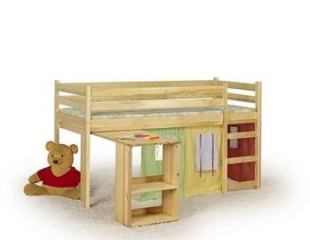 Vaikiška lova Emi pušies spalvos, 80 x 190 cm