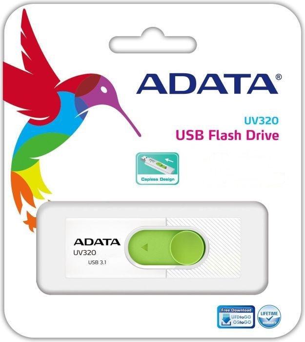Adata UV320 32GB USB3.1 White/Green