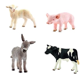 Schleich Young Animals From The Farm 4pcs 13848