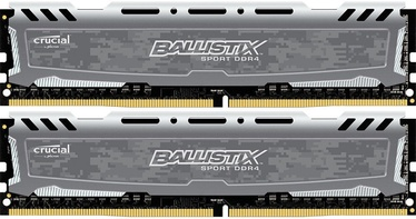 Crucial Ballistix Sport LT Gray 16GB 2666MHz CL16 DDR4 KIT OF 2 BLS2K8G4D26BFSBK