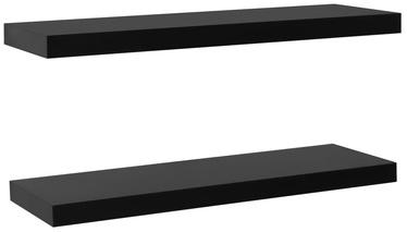 Настенная полка VLX Floating 288203, черный, 100 см x 20 см x 3.8 см