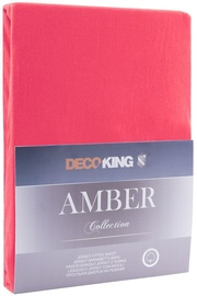 Palags DecoKing Amber Raspberry, 240x220 cm, ar gumiju