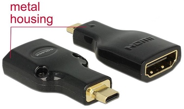 Adapter Delock Adapter HDMI with Ethernet-HDMI Micro-D to HDMI-A Black