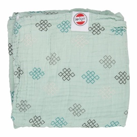 Lodger Dreamer Xandu Muslin Baby Blanket 120x120cm Silt Green Knot