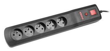 ARMAC Surge Protector 5 Outlet Black 1.5m