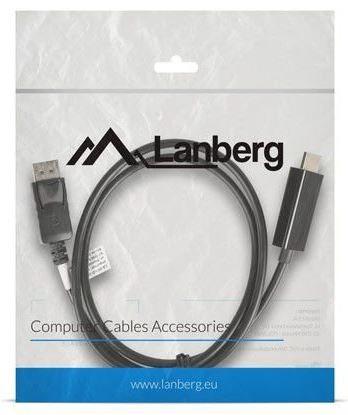 Lanberg Cable DisplayPort / HDMI Black 1m