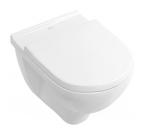 Sienas tualete Villeroy & Boch O.Novo 5660HR01, ar vāku, 360x560 mm