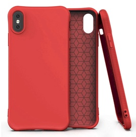 Fusion Solaster Back Case For Apple iPhone X/XS Red