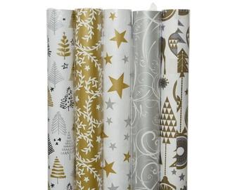 Упаковочная бумага Decoris 468005, золотой/