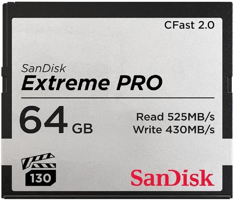 SanDisk 64GB Extreme Pro CFast 2.0 525MB/s