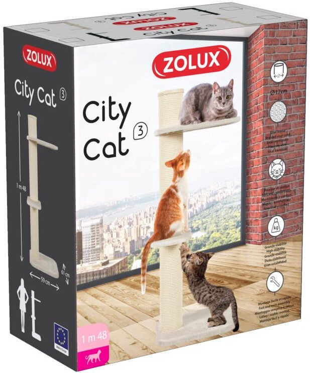 Zolux City Cat 3 Scratching Tower