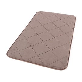 Domoletti Bath Mat 50x80cm Brown Tiles