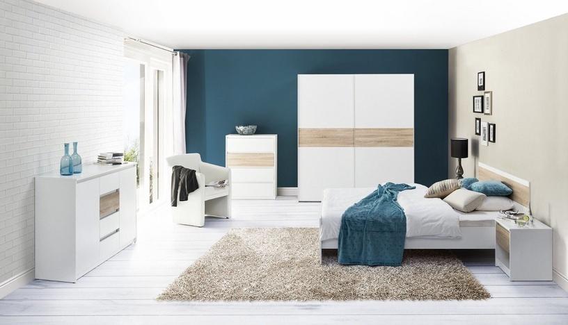 Naktsgaldiņš Szynaka Meble Venice 05 Sonoma Oak/White, 42x38x46 cm