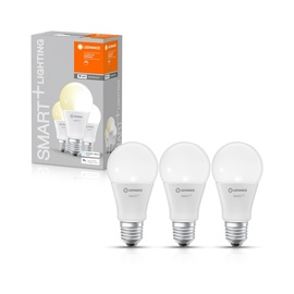 Viedā spuldze Ledvance LED, E27, A60, 9 W, 806 lm, 2700 °K, silti balta, 3 gab.