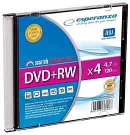 Esperanza DVD+RW 4x 4.7GB Slim Jewel Case 200pcs