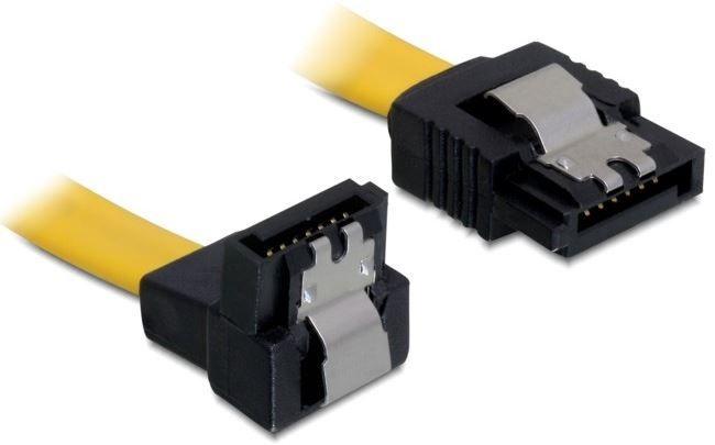 Delock Cable SATA / SATA Yellow 0.1m