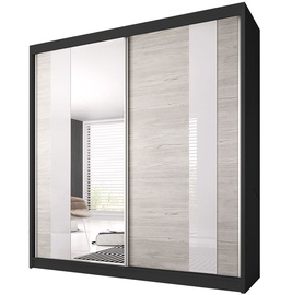 Idzczak Meble Wardrobe Multi 32 223cm Black/Sonoma Oak