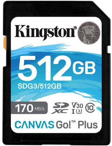 Kingston Canvas Go! Plus 512GB SDXC UHS-I Class 10
