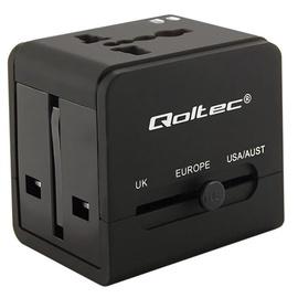 Qoltec Universal Travel Adapter 5V 2.1A 2xUSB Black