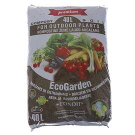 Kompostas EcoGarden daržui ir šiltnamiui su Condit trąšomis Juknevičiaus, 40 l