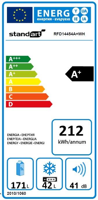 Šaldytuvas Standart RFD14454A+WH