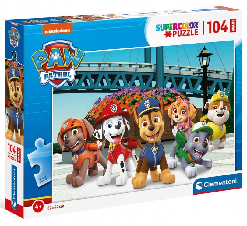 Clementoni Puzzle SuperColor Paw Patrol 104pcs 23755