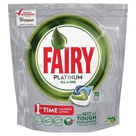Trauku mazgājamās mašīnas kapsulas Fairy Platinum, 70 gab.