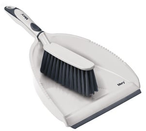 Mery Dustpan With Brush 34x23cm Grey