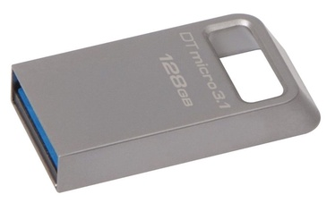 Kingston 128GB DataTraveler Micro Memory Stick USB 3.1 Silver