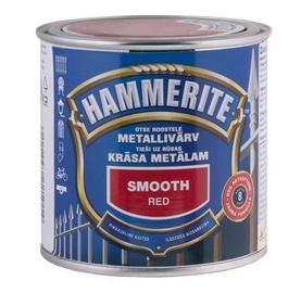 Metalo dažai Hammerite Smooth, raudoni, 0.25 l