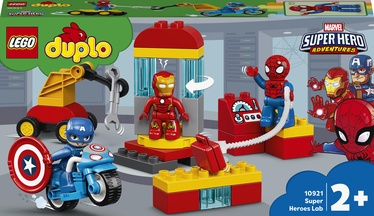 Konstruktor LEGO Duplo Superkangelaste labor 10921, 30 tk