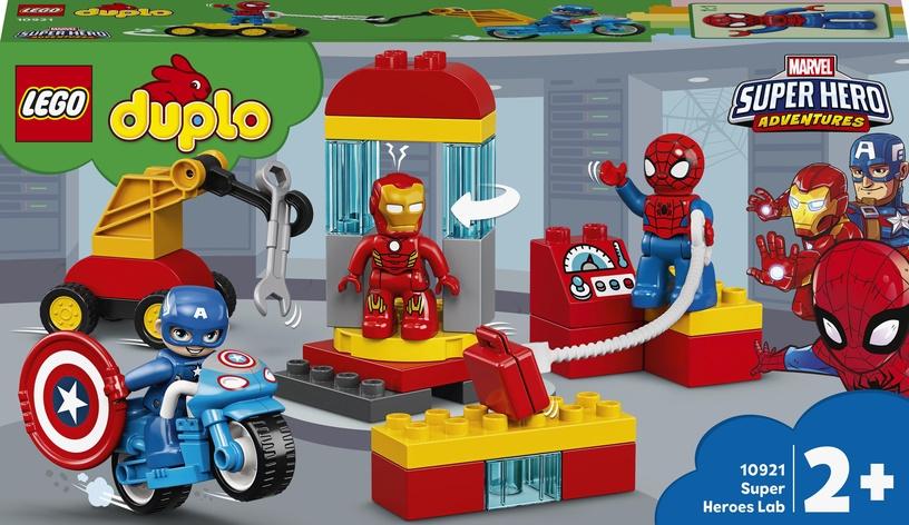 Конструктор LEGO Duplo Лаборатория супергероев 10921, 30 шт.