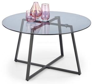 Kavos staliukas Halmar Zelda Smoked/Black, 800x800x450 mm