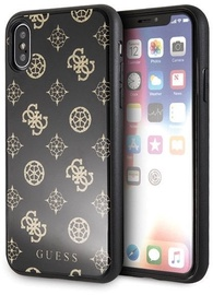Guess Peony G Double Layer Glitter Back Case For Apple iPhone X/XS Black
