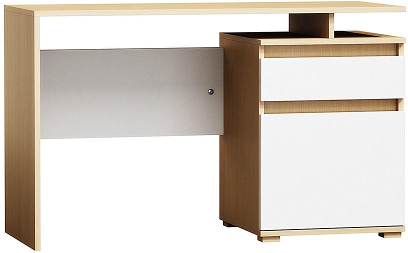 Rašomasis stalas Pro Meble Milano PKC 105, baltas/buko
