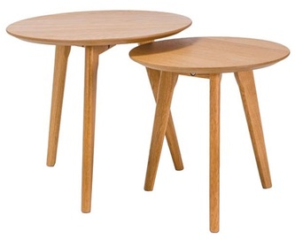 Signal Meble Milan S2 A Set Of Two Coffee Tables Oak