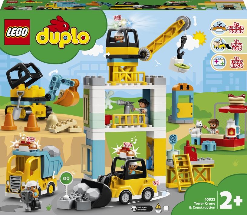 Конструктор LEGO Duplo Башенный кран на стройке 10933, 123 шт.