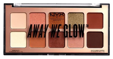 Acu ēnas NYX Away We Glow Shadow Palette Hooked On Glow, 10x1 g